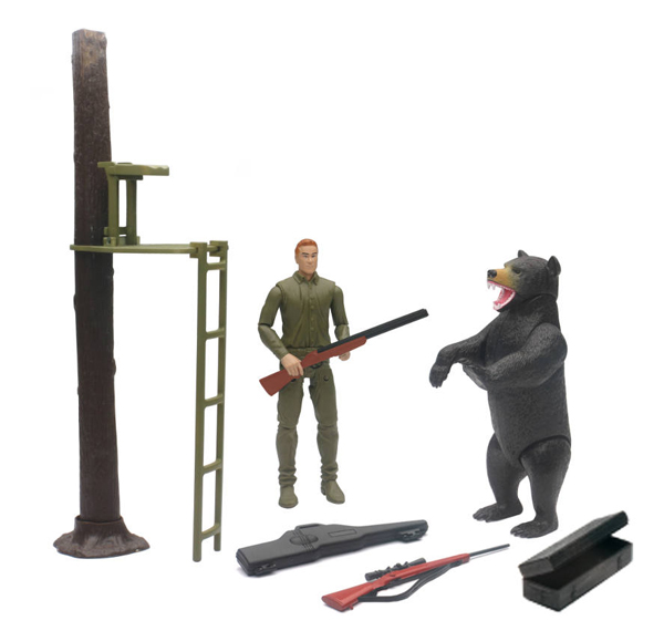 Wildlife Hunting Playset (1:12), NewRay Item Number NRSS-76416A