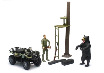 Bear Hunting Playset with ATV Playset 1:12 by New Ray Diecast Item Number: NRSS-76466-A
