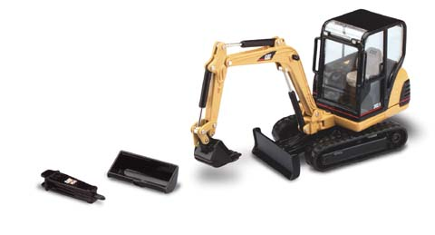 Cat 302.5 Mini Excavator (1:32), Norscot Diecast Construction Equipment Item Number CAT55085