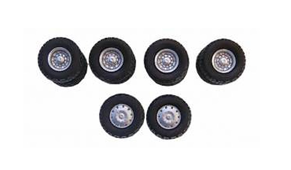 All-Terrain Wheel Sets 2 Front and 4 Rear 1:87 by Promotex Item Number: PRX005382