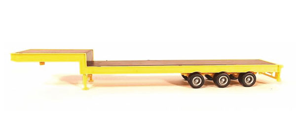 3-Axle Step Deck Equipment Trailer (1:87), Promotex Item Number PRX005482