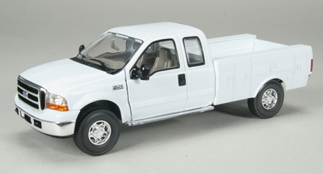 Ford F-250 Pickup Truck with Service Body in White 1:25 by SPEC-CAST Item Number: 52581