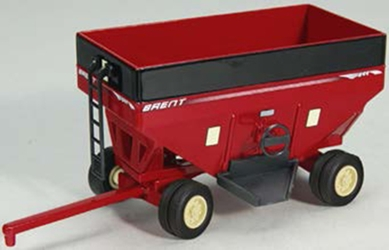 Brent Gravity Wagon with Dual Wheels in Red (1:64)
