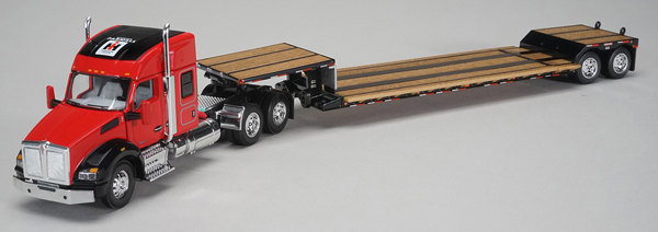 Farmall - Kenworth T880 Sleeper Cab with Fontain Renegade Lowboy Trailer (1:64), SPEC-CAST, Item Number ZJD-1810