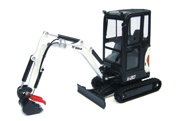 Bobcat E20 Compact Tracked Excavator with Cabin (1:25), Universal Hobbies, Item Number UHB8098