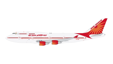 Air India B747-400 VT-EVA (1:400), GeminiJets 400 Diecast Airliners Item Number GJAIC1638