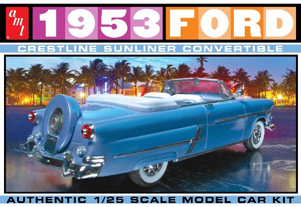 53 Ford Convertible 1:25, AMT Plastic Model Kits Item Number AMT1026