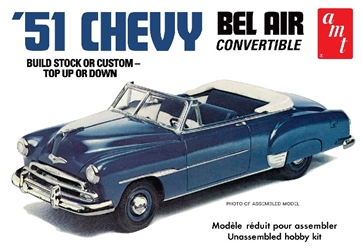 51 Chevy Convertible 1:25, AMT Plastic Model Kits Item Number AMT1041
