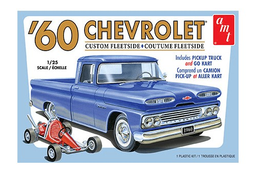 60 Chevy Custm Fleetsde PU:25 by AMT Plastic Model Kits Item Number: AMT1063