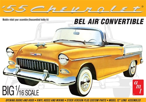 55 Chevy Bel Air Conv 1:16 by AMT Plastic Model Kits item number: AMT1134