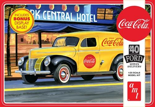 40 Ford Sedan Dlvry(CocaCola) by AMT Plastic Model Kits <p> Item Number: AMT1161
