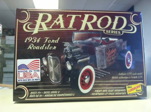 34 Ford Roadster Rat Rod 1:25, lindberg Item Number lin122