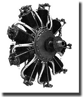 80hp LaRhone Rotary Engine (Detailed) 1:8, Williams Brothers Model Products Item Number WIL30100