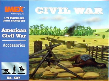 Civil War Accessories (1:72), IMEX Item Number IMX507