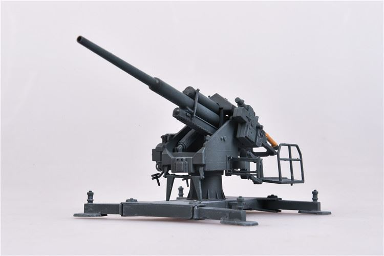 128mm Flak 40 with Kreuzlafette Mount Germany, 1944, Grey (Plastic) (1:72), ModelCollect Item Number AS72087