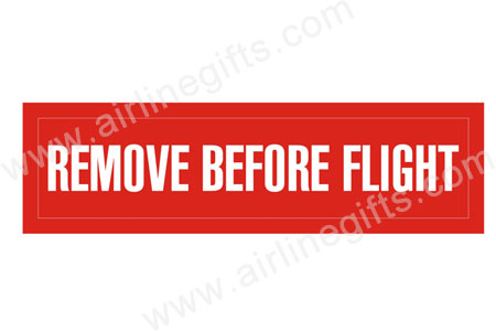 Remove Before Flight Patch (Iron On) by Airline Gifts by Aviation Collectables Intl Item Number: APP022