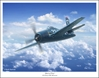 "F8F Bearcat - ""Bird Of Prey"" by Mark Karvon Aviation Art Item Number: MKNF8FB"