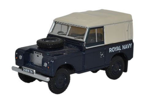 Land Rover Series III SWB Canvas, British Royal Navy (1:76 OO Scale) by Oxford Diecast Military Vehicles