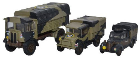 AEC Matador, Bedford MWD, and Austin Tilly, British Army, Italy, 1943 (1:76 OO Scale) by Oxford Diecast Military Vehicles