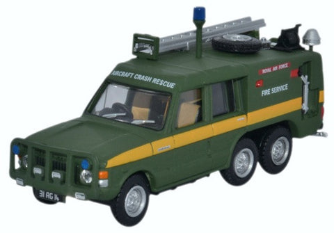 Truck Fire-Fighting Airfield Crash Rescue Mark 2 Range Rover (TACR2), RAF St. Mawgan (1:76 OO Scale) by Oxford Diecast Military Vehicles