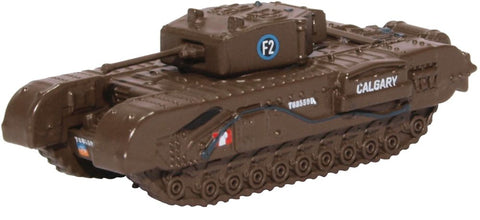 Churchill Mk.III Tank, 1st Canadian Tank Brigade, Dieppe, 1942 (1:148 N Scale) by Oxford Diecast Military Vehicles