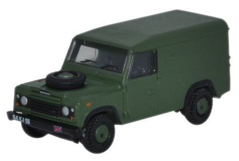 "Land Rover Defender, 110"" Hardtop, British Army (1:148 N Scale) by Oxford Diecast Military Vehicles"