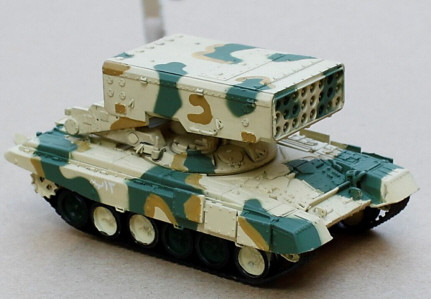 TOS-1A with T-72 Chassis Heavy Flame Thrower (Multiple Rocket Launcher) System Iraqi Army, 2014 (No case) (1:72), ModelCollect Item Number AS72035