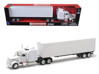 Kenworth W900 Plain White Unmarked (1:43) Model, New Ray Item Number NR15843