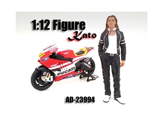 Biker Kato Figure Figure For 1:12 Scale Motorcycles