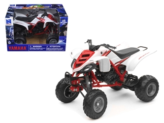 2005 Yamaha 660R Raptor WhiteRed ATV Motorcycle (1:12), New Ray Item Number 42923