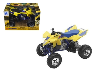Suzuki Quad Racer R450 YellowBlue ATV Motorcycle (1:12), New Ray Item Number 43393
