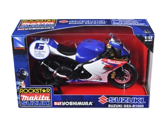 "Suzuki GSX-R1000 #6 ""Makita, Suzuki, Rockstar"" Bike Motorcycle (1:12) , New Ray Item Number NR57017"