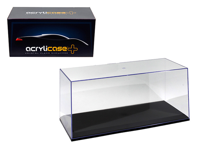 Collectible Display Show Case for 1/18 1/24 Models with Black Base by Illumibox, Illumibox Item Number 14003