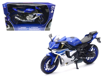 2016 Yamaha YZF-R1 Blue Motorcycle Model (1:12), New Ray Item Number 57803A
