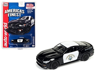 "2017 Ford Mustang GT ""Americas Finest"" CHP California Highway Patrol Limited Edition to 3600pcs 1:64 Diecast Model Car by Autoworld, Autoworld, Item Number CP7475"