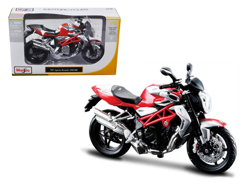 2012 MV Agusta Brutale 1090 RR Red/Silver 1/12 Motorcycle by Maisto, Maisto Item Number MST11097R/S