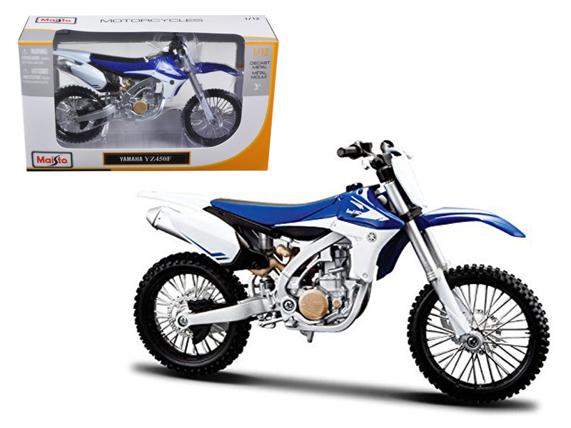 Yamaha YZ450F Motorcycle Model (1:12), Maisto Item Number MST13021BL