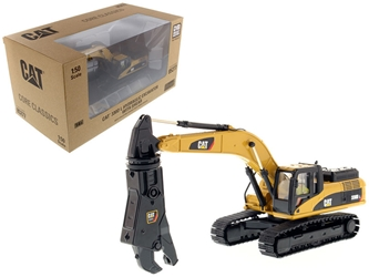 "CAT Caterpillar 330D L Hydraulic Excavator with Shear and Operator ""Core Classics Series"" 1/50 Diecast Model by Diecast Masters by Diecast Masters Item Number 85277C"