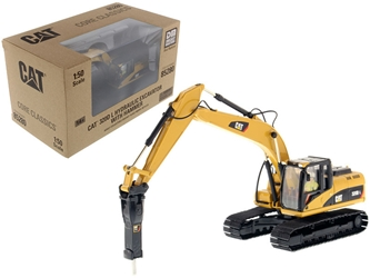 "CAT Caterpillar 330D L Hydraulic Excavator with Hammer and Operator ""Core Classics Series"" 1/50 Diecast Model by Diecast Masters by Diecast Masters Item Number 85280C"