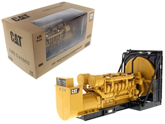 "CAT Caterpillar 3516B Engine Generator 3-Piece Set ""Core Classic Series"" 1/25 Diecast Model by Diecast Masters by Diecast Masters Item Number 85100C"