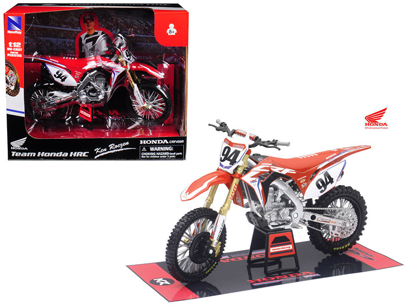 Honda Racing Team CRF450R Ken Roczen #94 Motorcycle Model 1/12 by New Ray, New Ray Item Number 57923