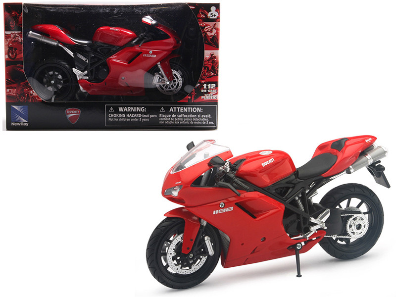 Ducati 1198 Red Motorcycle 1/12 Diecast Model by New Ray, New Ray Item Number 57143AS