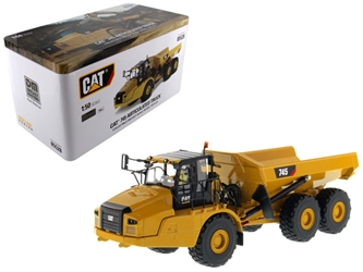 CAT Caterpillar 745 Articulated Hauler Dump Truck with Removable Operator High Line Series 1/50 Diecast Model by Diecast Masters, Diecast Masters Item Number 85528