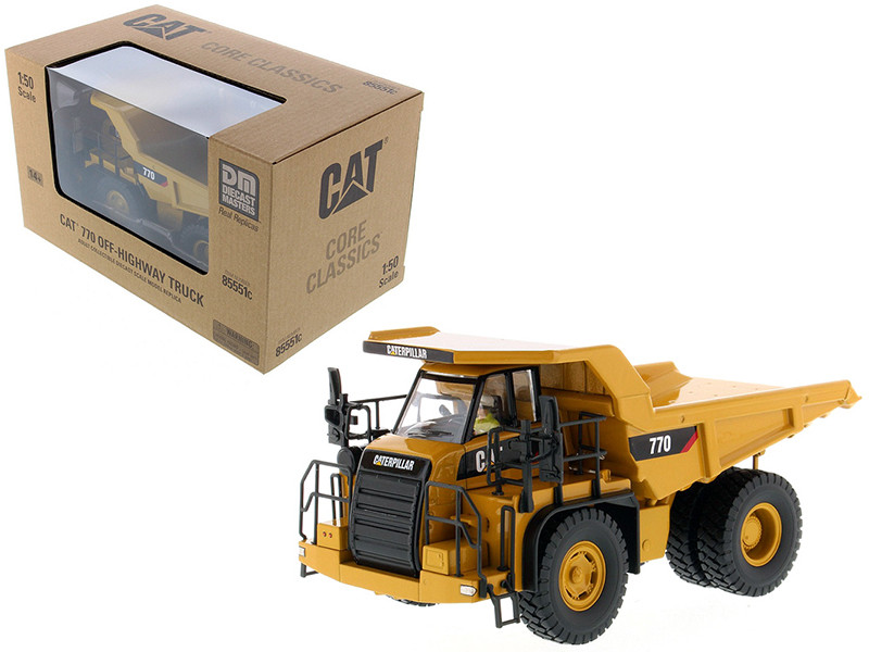 CAT Caterpillar 770 Off Highway Dump Truck with Operator Core Classics Series 1/50 Diecast Model by Diecast Masters, Diecast Masters, Item Number 85551C