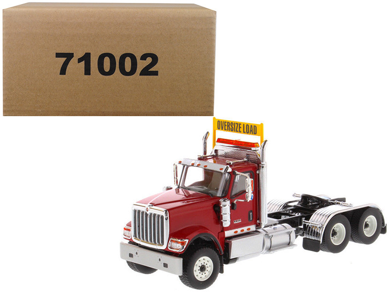 International HX520 Day Cab Tandem Tractor Red 1/50 Diecast Model by Diecast Masters, Diecast Masters, Item Number 71002