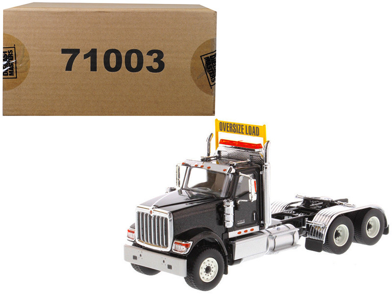 International HX520 Day Cab Tandem Tractor Black 1/50 Diecast Model by Diecast Masters, Diecast Masters, Item Number 71003
