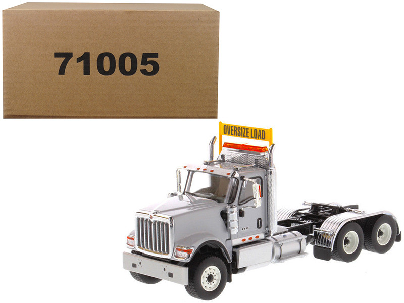 International HX520 Day Cab Tandem Tractor Light Grey 1/50 Diecast Model by Diecast Masters, Diecast Masters, Item Number 71005