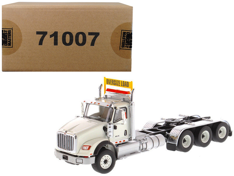 International HX620 Day Cab Tridem Tractor White 1/50 Diecast Model by Diecast Masters, Diecast Masters, Item Number 71007