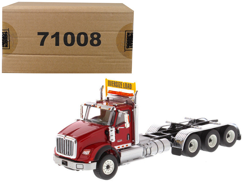 International HX620 Day Cab Tridem Tractor Red 1/50 Diecast Model by Diecast Masters, Diecast Masters, Item Number 71008