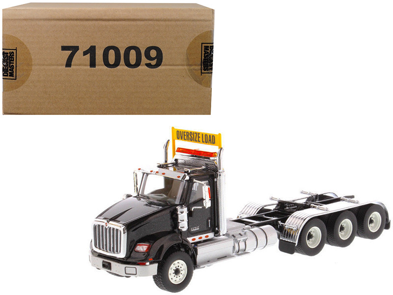 International HX620 Day Cab Tridem Tractor Black 1/50 Diecast Model by Diecast Masters, Diecast Masters, Item Number 71009